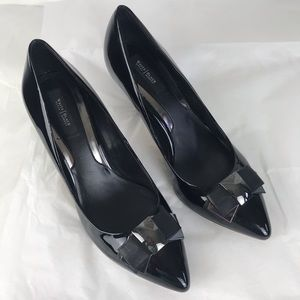 White House Black Market Patent Leather Heels SZ10